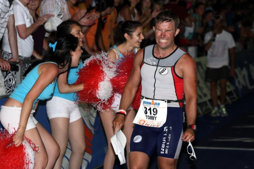 Her var dte ikke bare vondt i kneet men alt. Målgang Ironman France